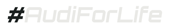 Audi For Life Hashtag Logo (Black-White)-575x95