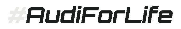 Audi For Life Hashtag Logo (White-Black)-575x95