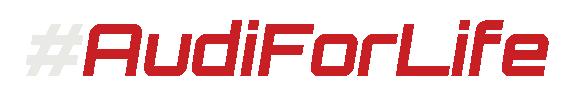 Audi For Life Hashtag Logo (White-Red)-575x95