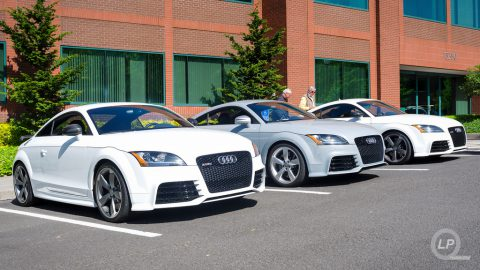 Trio of Audi TT RS coupés