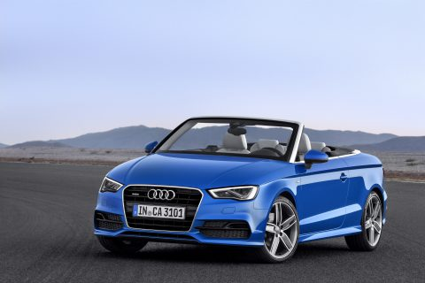 Audi A3 Cabriolet in Ara Blue Crystal Effect (Photo by Audi AG)