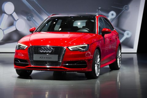 Audi A3 e-tron Sportback at IAA 2013 (Photo by Audi AG)
