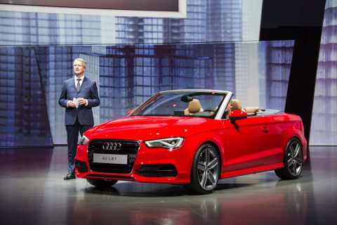 Red Audi A3 Cabriolet at IAA 2013 (Photo by Audi AG)