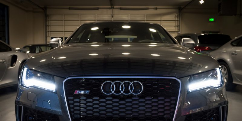 Daytona Gray Audi RS 7 at Sunset Audi