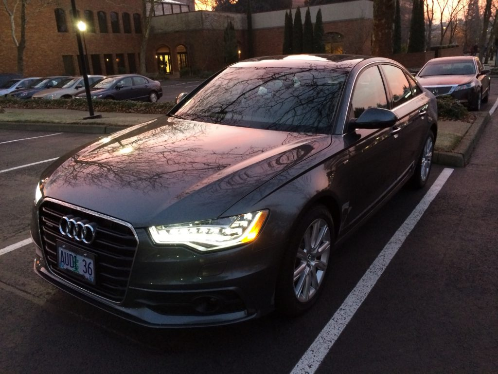 Audi A6 TDI with LED Headlights On