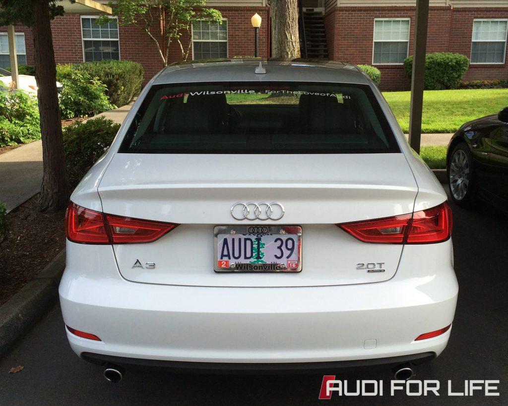 Audi A3 Rear View