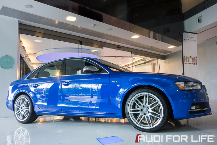 Audi S4 Nogaro Blue special edition at Audi Forum Herndon