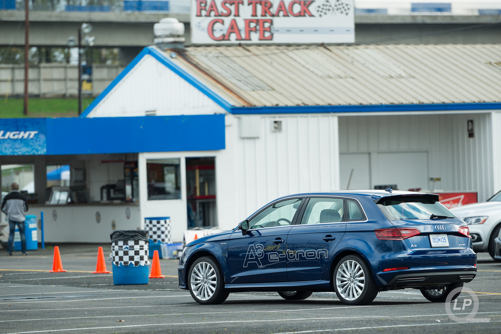 Blue Audi A3 Sportback e-tron