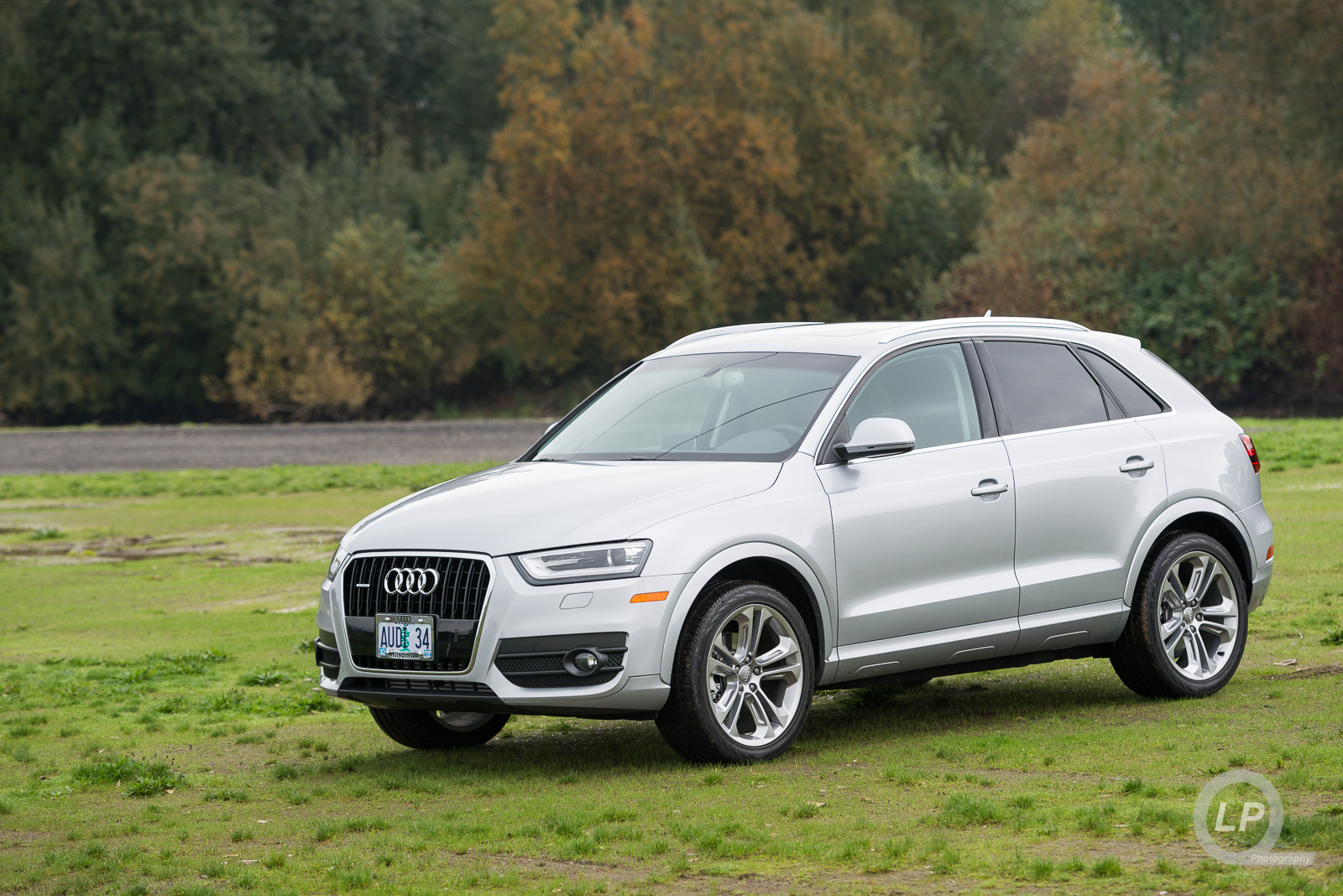 Audi Q3 waiting in the grass while I shoot photos