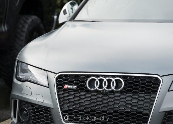 In Photos: Matte Daytona Gray Audi RS 7