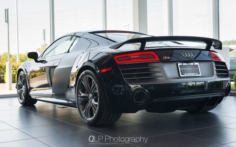 In Photos: Mythos Black Audi R8 competition at Audi Wilsonville