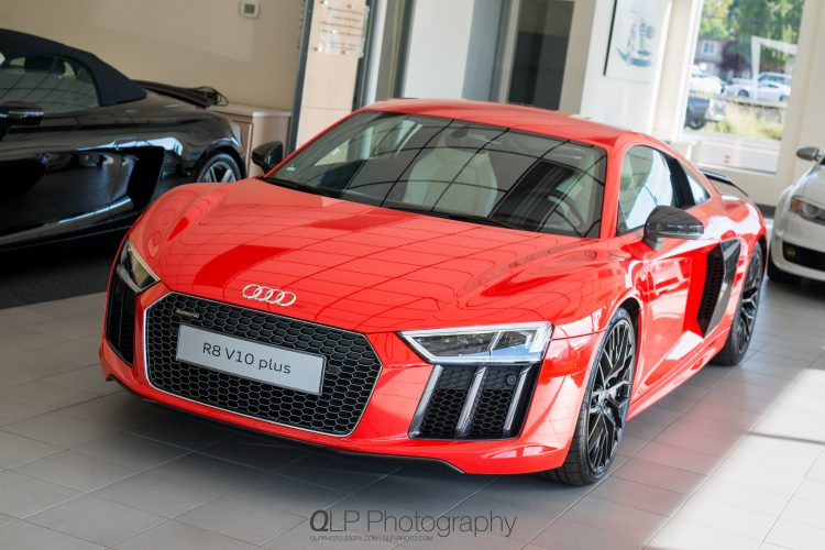 In Photos: 2017 Dynamite Red Audi R8 V10 plus at Audi Beaverton